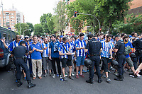 Security measures of the police in the previous moments of Copa del Rey (King's Cup) Final between Deportivo Alaves and FC Barcelona at Vicente Calderon Stadium in Madrid, May 27, 2017. Spain.. (ALTERPHOTOS/Rodrigo Jimenez)