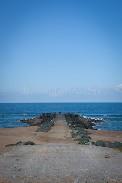 The Beach at Anglet, Biarritz, Pays Basque, France