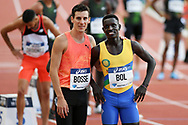 Pierre-Ambroise Bosse and Peter Bol during the Meeting de Paris 2018, Diamond League, at Charlety Stadium, in Paris, France, on June 30, 2018 - Photo Philippe Millereau / KMSP / ProSportsImages / DPPI