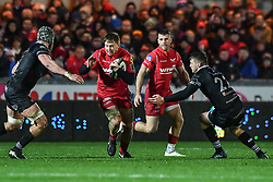 Scarlets' James Davies in action during todays match - Mandatory by-line: Craig Thomas/Replay images - 26/12/2017 - RUGBY - Parc y Scarlets - Llanelli, Wales - Scarlets v Ospreys - Guinness Pro 14