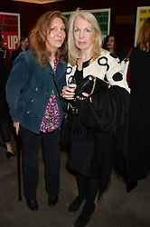 """Left to right, JULIA LAVERNE and director of the British Film Institute AMANDA NEVILL at a private screening Of """"The Gun, The Cake and The Butterfly"""" hosted by Amanda Eliasch at The Bulgari Hotel, 171 Knightsbridge, London on 24th March 2014."""
