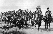 A troop of Cossack cavalry serving in the Russian Imperial Army, c1914.