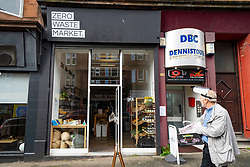 Glasgow, Scotland, UK. 7 October 2020. Time Out magazine has named Dennistoun in the East End of Glasgow as one of the world's coolest districts. Pictured; Zero Waste Market grocery which does not supply bags or packaging to customers.  Iain Masterton/Alamy Live News