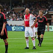 Amsterdam, 03-07-2013. Oud-Ajaxied Sjaak Swart wordt 75 jaar en krijgt een jubileumwedstrijd in het Olympisch Stadion te Amsterdam. Vele oud-Ajax gedienden waren uitgenodigd. Mr. Ajax - Sjaak Swart maakte deel uit van oud-Ajax elftal. Foto: Johan Cruijff