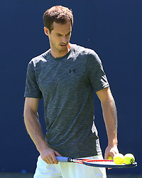 June 18, 2018 - London, England, United Kingdom - Andy Murray (GBR) practicing before his first game against Nick Kyrgios (AUS).during Fever-Tree Championships at The Queen's Club, London, on 18 June 2018  (Credit Image: © Kieran Galvin/NurPhoto via ZUMA Press)