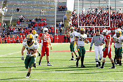 25 October 2008: Tyler Roehl continues up field, but the play had been whistled dead in a game which the North Dakota Bison defeated the Illinois State Redbirds at Hancock Stadium on campus of Illinois State University in Normal Illinois