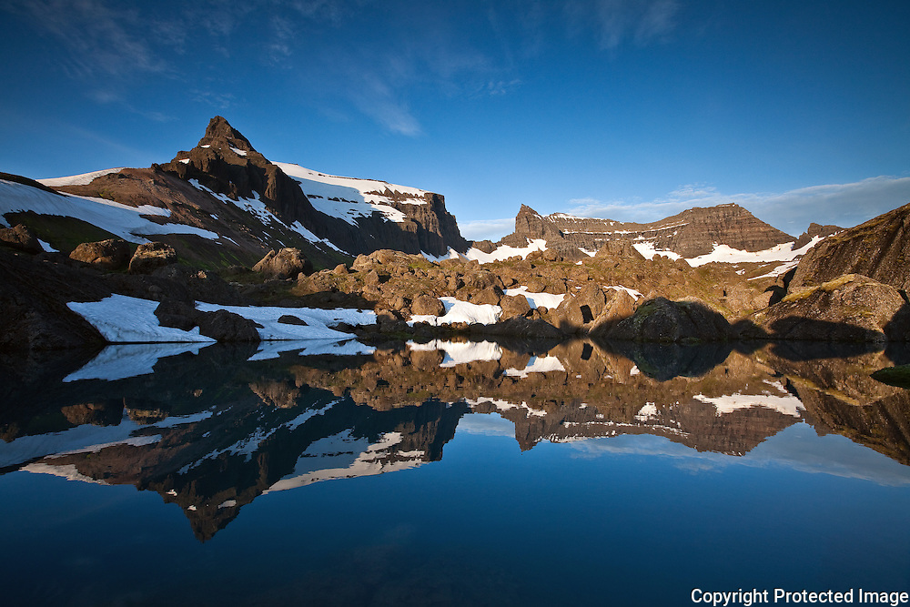 Mountain Dyrfjöll and Stórurð, east Iceland