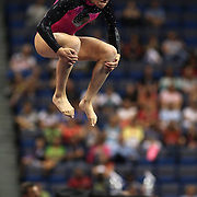 Kyla Ross, Aliso Viejo, California, in action during the Floor Exercise during the Senior Women Competition at The 2013 P&G Gymnastics Championships, USA Gymnastics' National Championships at the XL, Centre, Hartford, Connecticut, USA. 15th August 2013. Photo Tim Clayton