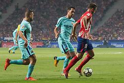 October 14, 2017 - Madrid, Madrid, Spain - Jordi Alba, Sergi Roberto and Saul. (Credit Image: © Jorge Gonzalez/Pacific Press via ZUMA Wire)