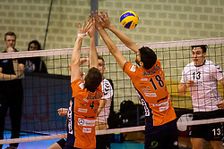 Volleyball match between ACH Volley and Calcit Volleyball at 2017 Slovenian Man Cup Final, on March 19th, 2017, SD Planina, Kranj, Slovenia. Photo by Ziga Zupan / Sportida