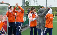 ABCOUDE - VOLVO JUNIOR CUP hockey . Abcoude C1 ,, en Heerhugowaard   strijden in Abcoude om de cup. Heerhugowaard wint met 3-1. De teams werden gesteund door spelers van Jong Oranje. COPYRIGHT KOEN SUYK