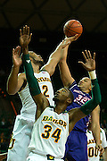 WACO, TX - DECEMBER 18: DeQuan Hicks #32 of the Northwestern State Demons shoots the ball against the Baylor Bears on December 18 at the Ferrell Center in Waco, Texas.  (Photo by Cooper Neill/Getty Images) *** Local Caption *** DeQuan Hicks