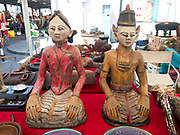 Male and female antique statues representing Yin and Yang