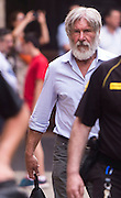MADRID, SPAIN, 2016, JUNE 28 <br /> <br /> Harrison Ford and his wife, Calista Flockhart, made a trip to Spain to enjoy a well deserved holiday. The couple has surprised friends and strangers during their presence in the Jewish Quarter of Cordoba and his subsequent visit to the Mosque. Although sporting a long gray beard that makes him pass almost unnoticed, many residents and tourists recognized the actor, 73, who seems fully recovered from the accident aircraft suffered in March 2015. Upon arrival, they have agreed the historical monument, like other tourists, passing through the Patio de los Naranjos. At that time, it has raised a stir among visitors to the Mosque-Cathedral. The more daring have not missed an opportunity to capture the moment, making numerous selfies with the legendary Indiana Jones. <br /> ©Exclusivepix Media