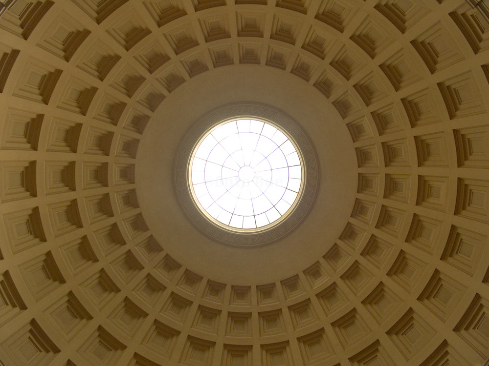 upwards view of a rotunda ceiling