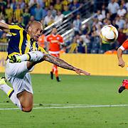 Fenerbahce's Fernandao (L) during their UEFA Europa league Play-Offs Second Leg soccer match Fenerbahce between Atromitos at the Sukru Saracaoglu stadium in Istanbul Turkey on Thursday 27 August 2015. Photo by Aykut AKICI/TURKPIX