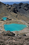 Blue Lakes, Mount Tongariro, New Zealand, Volcano, active stratovolcano, Tongariro volcanic complex, Central Plateau of the North Island, contains active fumaroles
