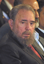 Cuban President Fidel Castro during his visit to Iran on May 2001. Cuban President Fidel Castro said Monday he underwent surgery and temporarily handed power to his brother, Raul. PHOTO BY PARSPIX/ABACAPRESS    102840_01 Teheran Tehran Iran