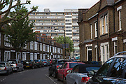The Aylesbury Estate, a large housing estate located in Walworth on 24th June 2016 in South London, United Kingdom. The Aylesbury Estate contains 2,704 dwellings and was built between 1963 and 1977. The estate is partially occupied and is currently undergoing a major redevelopment.