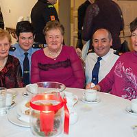 Maire O'Neill, Garda Deirdre Scanlan, Maura O'Brien, Superintendant Derek Smart & Bridget Cahill at the Garda Christmas Party Event for the Elderly at the Temple Gate Hotel on Thursday