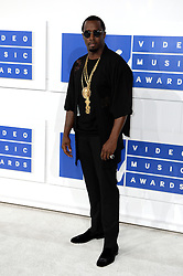 P Diddy arriving at the MTV Video Music Awards 2016, Madison Square Garden, New York City. PRESS ASSOCIATION Photo. Picture date: Sunday August 28, 2016. See PA story SHOWBIZ MTV. Photo credit should read: PA Wire