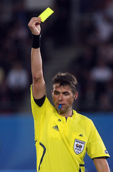Referee Roberto Rosetti of Italy during the UEFA EURO 2008 Quarter-Final soccer match between Croatia and Turkey at Ernst-Happel Stadium, on June 20,2008, in Wien, Austria. Turkey won after penalty shots. (Photo by Vid Ponikvar / Sportal Images)