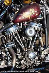 Custom Harley-Davidson Panhead at Shinji Ueda's Blacktop Motorcycles in Tokyo, Japan photographed after the Mooneyes Yokohama Hot Rod & Custom Show on Tuesday, December 6, 2016.  Photography ©2016 Michael Lichter.