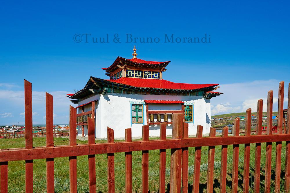 Mongolie, province de Ovorkhangai, vallée Orkhon classée Patrimoine Mondial de l'UNESCO, Kharkhorin, monastere recent dans la ville// Mongolia, Ovorkhangai, Kharkhorin, Orkhon valley, Unesco world heritage, new monastery in the city