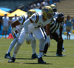 April 29, 2017 - Los Angeles, California, U.S. - UCLA Bruins Keisean Lucler-South (11) during the UCLA football Spring Showcase on Saturday, April 29, 2017 in Los Angeles. (Photo by Keith Birmingham, Pasadena Star-News/SCNG) (Credit Image: © San Gabriel Valley Tribune via ZUMA Wire)