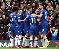 Chelsea's Mason Mount celebrates scoring his side's goal <br /> <br /> Photographer Stephanie Meek/CameraSport<br /> <br /> The Premier League - Chelsea v Everton - Sunday 8th March 2020 - Stamford Bridge - London<br /> <br /> World Copyright © 2020 CameraSport. All rights reserved. 43 Linden Ave. Countesthorpe. Leicester. England. LE8 5PG - Tel: +44 (0) 116 277 4147 - admin@camerasport.com - www.camerasport.com