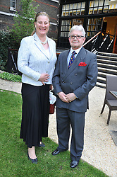 PRINCESS KATARINA OF YUGOSLAVIA and ROBERT GOLDEN at a reception hosted by the Friends of the Castle of Mey held at the Goring Hotel, Beeston Place, London on 22nd May 2012.