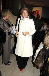 MISS AMBER NUTTALL at a fashion show of the new fashion label Chester Bonham held at the Aston Martin Showroom, Park Lane, London on 15th November 2004.<br /><br />NON EXCLUSIVE - WORLD RIGHTS