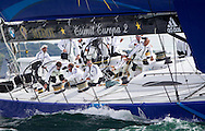 Esimit Europa 2 during the Rolex Fastnet Race.