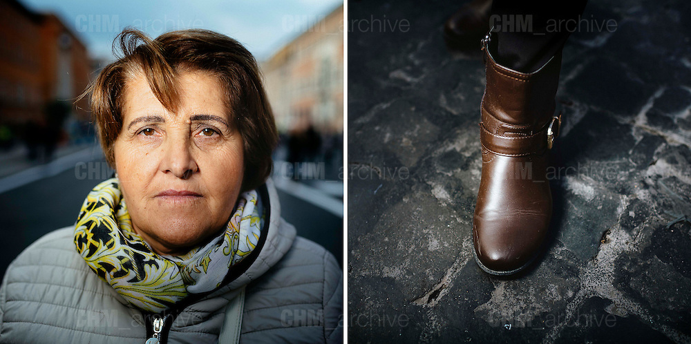 Maria. 59 years old. Caserta, Italy.<br /> Rome 08 December 2015. Christian Mantuano / OneShot