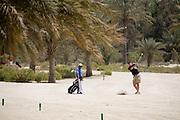 Abu Dhabi, United Arab Emirates (UAE). March 20th 2009.<br /> Al Ghazal Golf Club.<br /> 36th Abu Dhabi Men's Open Championship.<br /> Peter Shaw (right)