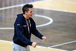 Matija Plesko, head coach of ACH Volley Ljubljana celebrates during volleyball match between ACH Volley Ljubljana and Calcit Kamnik in Mevza League 2020/21, on October 17, 2020 in Hala Tivoli, Ljubljana, Slovenia. Photo by Matic Klansek Velej / Sportida