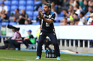 David Wagner, the Huddersfield Town manager giving instructions from the touchline. EFL Skybet  championship match, Reading  v Huddersfield Town at The Madejski Stadium in Reading, Berkshire on Saturday 24th September 2016.<br /> pic by John Patrick Fletcher, Andrew Orchard sports photography.