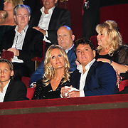 NLD/Amsterdam/20101102- Feestavond viering 50ste verjaardag Rene Froger, Rene Froger en partner Natasja Kunst