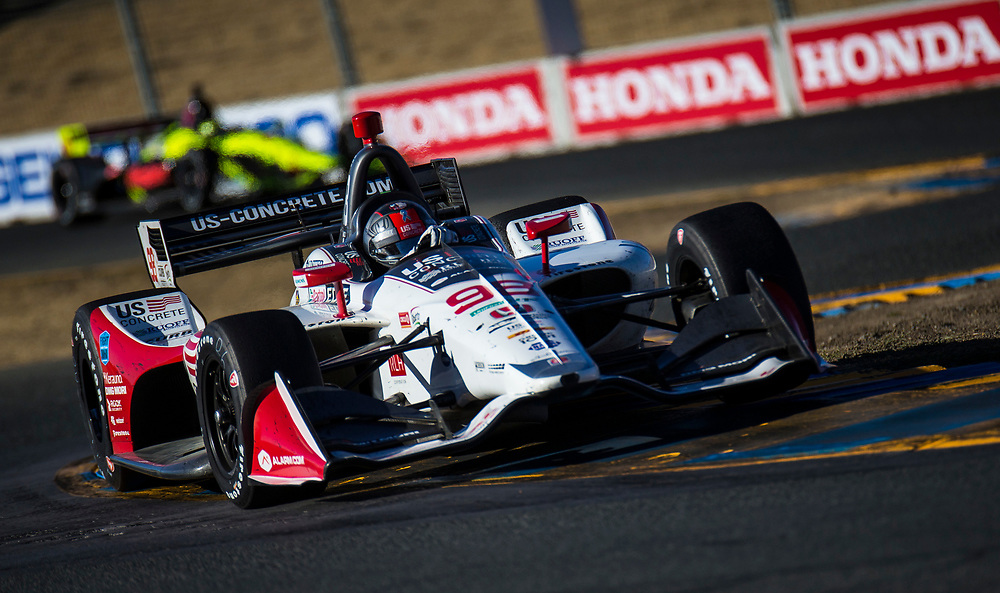 SEPT 16, 2018 Sonoma, CA, U.S.A : Andretti Herta Autosport with Curb-Agajanian driver Marco Andretti (98) of United States takes 5th place during the GoPro Grand Prix of Sonoma Verizon Indycar Championship at Sonoma Raceway Sonoma, CA  Thurman James / CSM