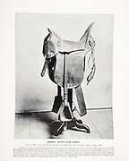 """General Grant's War Saddle from The American Civil War book and Grant album : """"art immortelles"""" : a portfolio of half-tone reproductions from rare and costly photographs designed to perpetuate the memory of General Ulysses S. Grant, depicting scenes and incidents in connection with the Civil War Published  in Boston and New York by W. H. Allen in 1894"""