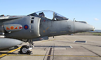 Royal Air Force British Aerospace Harrier Royal Naval Air Station Yeovilton Base Tour, UK, 25 November 2010: piQtured Sales: Ian@Piqtured.com +44(0)791 626 2580 (picture by Richard Goldschmidt)
