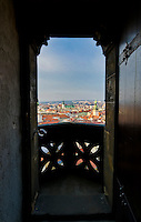 View of the historic center of Brno from the the tower of St. Peter and Paul tower in the Czech Republic.