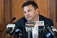 September 15, 2016: Eddie Hayson news conference at Hotel InterContinental in Sydney, AUS. Eddie denied any match fixing in the NRL.