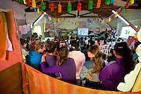 "CHICOS ALUMNOS DE LA CLASE DE APOYO ""DULCE ESPERANZA""DURANTE UNA FIESTA, DIQUE LUJAN, PROVINCIA DE BUENOS AIRES, ARGENTINA (PHOTO © MARCO GUOLI - ALL RIGHTS RESERVED)"
