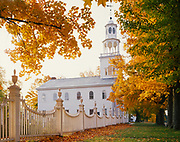 Old First Congregational Church, built in 1806 and considered to be one of the most beautiful churches in America, Old Bennington, Vermont.