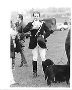 Lord Burghersh at the Beaufort Point to Point. 1985 approx. © Copyright Photograph by Dafydd Jones 66 Stockwell Park Rd. London SW9 0DA Tel 020 7733 0108 www.dafjones.com