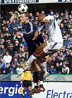 Fotball, 7. mars 2004, Brugge - Anderlecht, Rune Lange, Bugge RUNE LANGE - VINCENT KOMPANY /