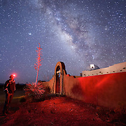 Retired Canadian businessman Jack Newton enjoys his house in Portal, Arizona where Arizona Sky Villages is developing a community for fans of dark skies.  Homes have telescope domes on the roof and connections to a robotic telescope.