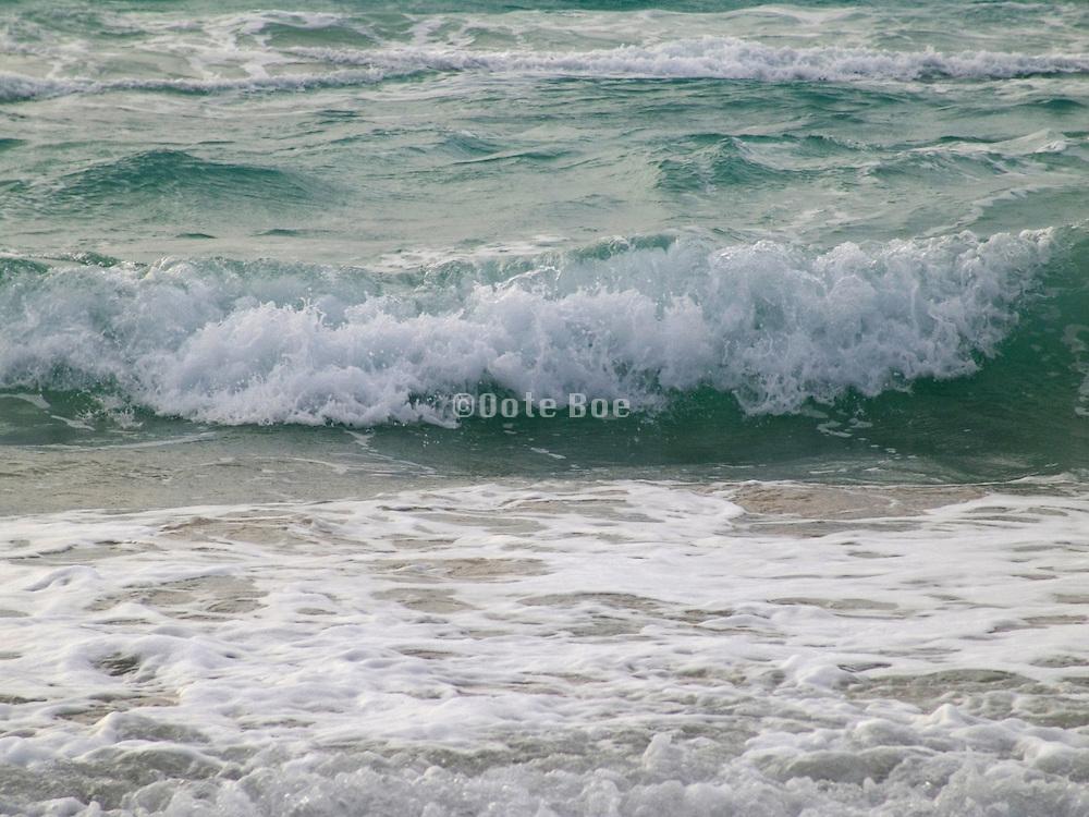 close up of surf Atlantic ocean at Miami Beach