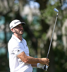 May 11, 2017 - Ponte Vedra Beach, Florida, United States - Dustin Johnson watches his shot off the 13th tee during the first round of The PLAYERS Championship at TPC Sawgrass. (Credit Image: © Debby Wong via ZUMA Wire)